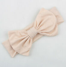 H.QUALITY 1-3 Y Girl Kid Pure Cotton Bow Headband Stretch Turban Knot Head Wrap