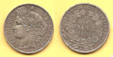 Lot pièce 5 Francs Cérès avec légende argent 1870 A TTB+ rare voir scan