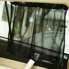 Black Adjustable VIP Car Window Mesh Interlock Curtain UV Sunshade Visor X2