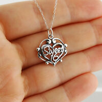 Sweet 16 Necklace - 925 Sterling Silver - Filigree Pendant Birthday Gift NEW