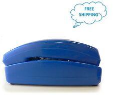 Trimline Corded Telephone-1960 Design W/ Modern Electronics-BLUE COLOR GO-5303BL