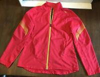Saucony Women's Neon Pink Yellow Running Jacket Wind Breaker Size Medium