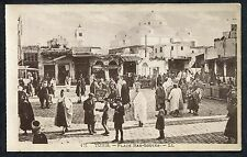 C1920's View of People/Market, Place Bab-Souika,Tunis