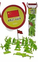 ARMY GUYS WWII KOREA CHINESE INFANTRY 17 Figures Flag Tube 1/32 NEW FREE SHIP