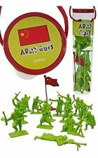ARMY GUYS WWII CHINESE INFANTRY 17 Plastic Figures Flag Tube 1/32 NEW FREE SHIP