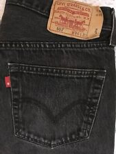 Levis 501 W34 L32 Buttonfly Blank Red Tab Black Straight Fit Actual Waistband 35