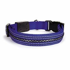 "Casual Canine LED Pet Dog Collars 3 lighting options Adjustable 14""-20"""
