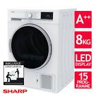 Wäschetrockner Trockner Wärmepumpentrockner A++ Sharp KD-GHB8S7GW2-DE 8kg 2ML