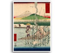 "Japanese Decor Art Poster Woodblock Print Reproduction Asian 12x16"" J31"