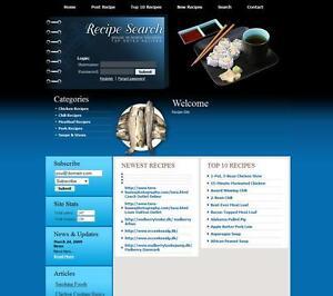 Established COOKING & RECIPES FOOD website for sale Adsense Affiliate Earnings