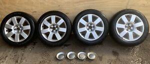 """GENUINE AUDI TT MK1 8N 16"""" 5X100 WHEELS & TYRES VW SEAT SKODA"""