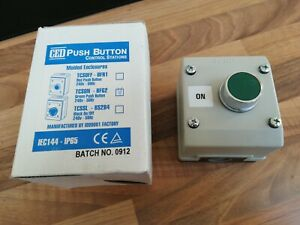 INDUSTRIAL GREEN ON PUSH BUTTON  SWITCH IP65 FACTORY WORKSHOP SAFETY TSCON TEND
