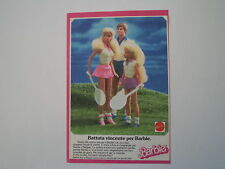 advertising Pubblicità 1987 BARBIE MATTEL