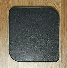 Tin Container Black with Gold Trim 9-inches Square w/Rounded Corners Odd Shape