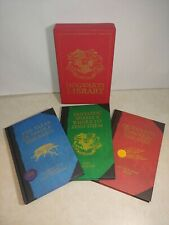 HOGWARTS LIBRARY 3 Hardcover Book Set 1ST PRINTING Nov 2013 Harry Potter ROWLING