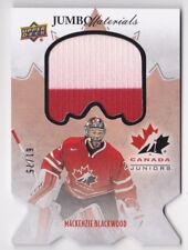 16-17 Team Canada Juniors Mackenzie Blackwood /75 Jersey JUMBO Upper Deck 2016