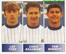 415 TODD - BEAUMONT ENGLAND STOCKPORT COUNTY STICKER FOOTBALL LEAGUE 1996 PANINI