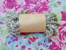 Vintage Style Tarnished Tinsel Christmas Curly Great for Crafts 10 yards