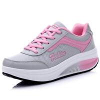 Women Platform Shoes Lace UP  Fitness Walking Sport Sneakers GYM Breathable