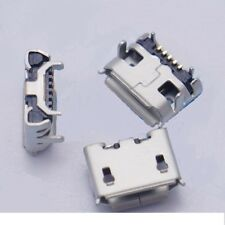 Micro USB Female Socket  5Pin  PCB Mount jack Ox horn 4 leg x 5 Pack - UK Seller