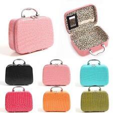 Women Fashion Synthetic Leather Crocodile Pattern Cosmetic Storage Bag Handbag
