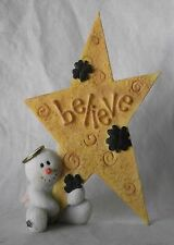 Sarah's Attic Snowonders Believe Wishes Snowman Angel Irish St Patrick Numbered