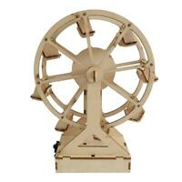 DIY Wooden Ferris Wheel Model Materials Kit Science Experiment Assemble Toy /ND