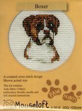 14ct Counted Cross Stitch Kit - Mouseloft - Paw Prints - Boxer Dog Counted