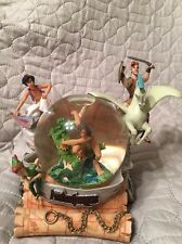 Disney Lighted Aladdin Hercules Peter Pan Tarzan's ADVENTURERS Musical SnowGlobe