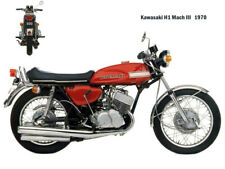 Motorcycle Canvas Picture Kawasaki H1 Mach3 1970 Canvas 16x12 inch