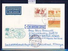 55964) LH FF München - Marseille France 6.1.97, Karte ab Dänemark