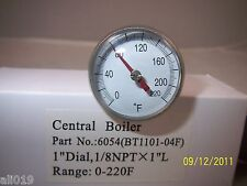Central Boiler Small Temperature Gauge Water Temp Sensor  Wood Furnace