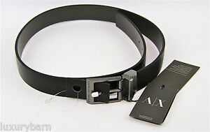 Armani Exchange A|X REVERSIBLE Dress Belt 100% Authentic 100% Leather New