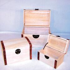WOOD 3 PC TREASURE CHEST SET new pirate jewelry box