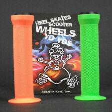 GK Scooter Handlebar Grips Combo Green Orange + bar ends