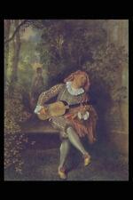 402094 The Banjo Player Jean Antoine Watteau A4 Photo Print