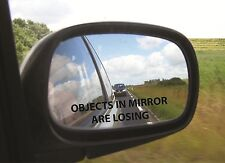 """2 Objects in the Mirror are Losing Die Cut Vinyl Decal JDM Car 7"""" Long p287"""