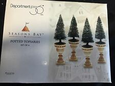 """Brand New - Department 56 Seasons Bay """"Potted Topiaries - Set of 4"""" 53370"""