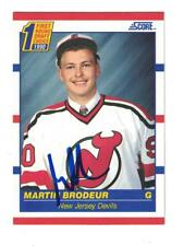 Martin Brodeur Autograph New Jersey Devils 1990-91 Score Rookie Card Signed