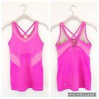Lululemon Womens 6 Pink Built In Bra Tank Solid Pink Active Athletic Strappy