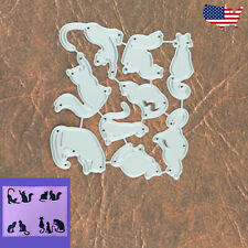 Nine Cats with Nine Lives Cutting Die Set – Silhouette Pets Meow Halloween Kitty
