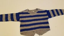 Ruum Blue  Silver Striped Sweater Baby Girl 18mth