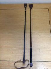 2x Vintage Horse Riding Whips Fibroflex The Eegee Whip