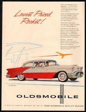 1956 OLDSMOBILE 88 2 Door Sedan Car - Fast As A Rocket - Retro VINTAGE AD