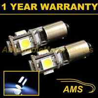2X BA9s T4W 233 CANBUS ERROR FREE WHITE 5 LED SIDELIGHT BULBS HID SL101402