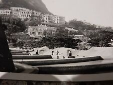 ORIG 1930s Photograph Hong Kong  Bowen Road Mansion Construction & Filter Beds