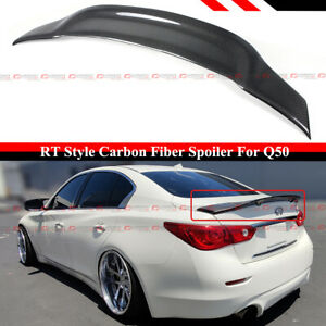 FOR 2014-2021 INFINITI Q50 R STYLE HIGHKICK DUCKBILL CARBON FIBER TRUNK SPOILER