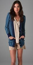 Marc by Marc Jacobs $198 Virgina Skinny Rib Striped Cardigan Sweater; S