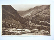 Glencoe – the Gorge and Pass. Near Ballachulish, Onich. (Photochrom – old cars)