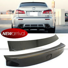 For IS250 IS350 W Style Carbon Fiber Rear Window Roof & Trunk Wing Spoiler Combo